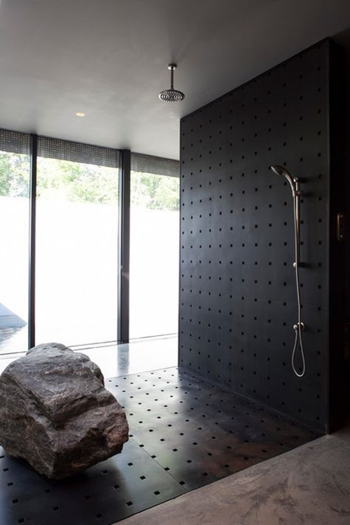 steel shower floor