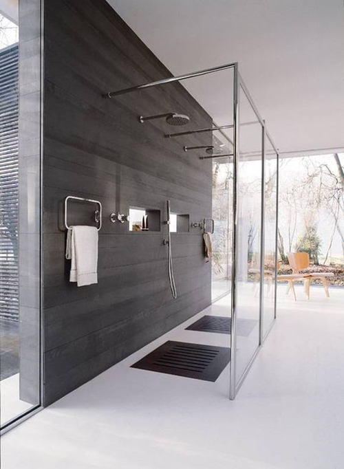 modern shower floor