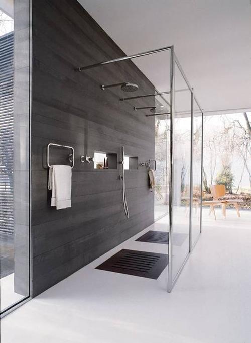 modern shower floor