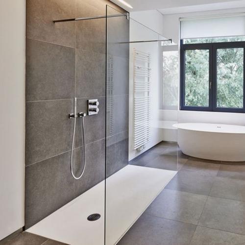 minimalist shower floor