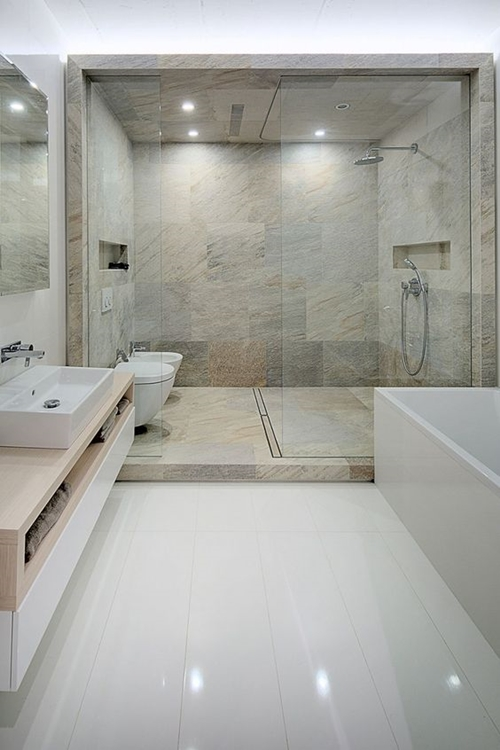 100 walk in shower ideas that will make you wet for Huge walk in shower