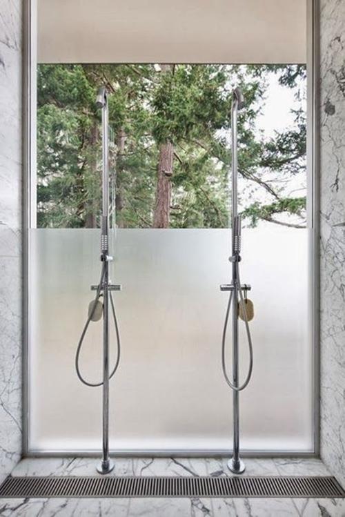 double walk in shower