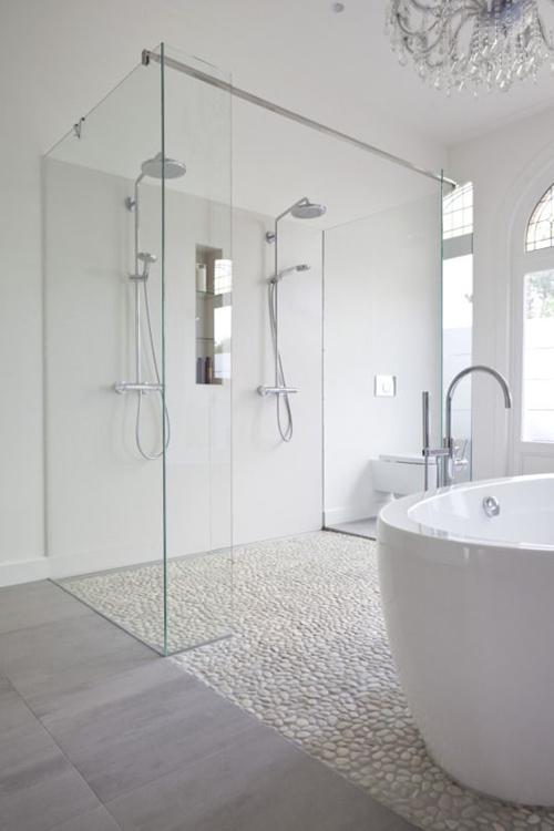 minimalist walk in shower