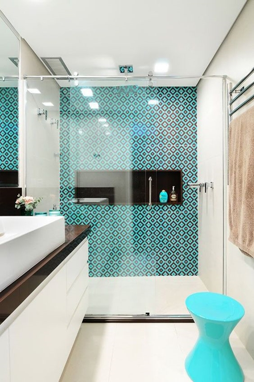 Blue Shower Tiles
