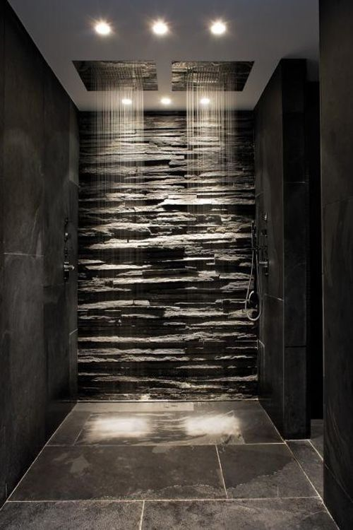 raw stone shower tiles