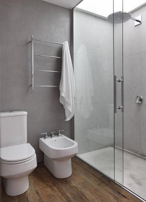 minimalist shower tiles