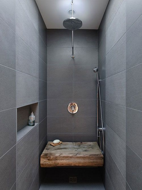 Narrow Walk In Shower With A Seat