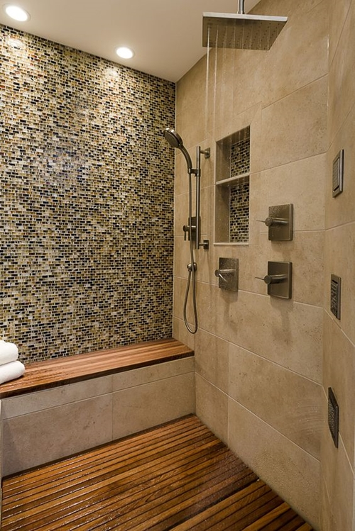 100 walk in shower ideas that will make you wet for Built in shower ideas