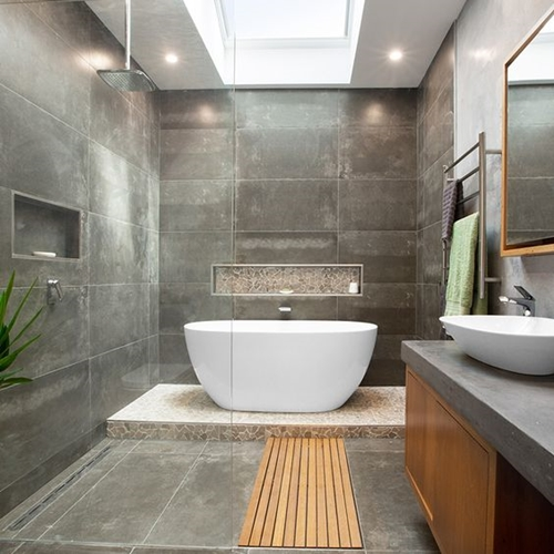 100 walk in shower ideas that will make you wet for Small 4 piece bathroom designs
