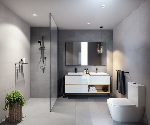 Bathroom Vanity Lighting Concept For Modern Houses: 100+ Walk In Shower Ideas That Will Make You Wet