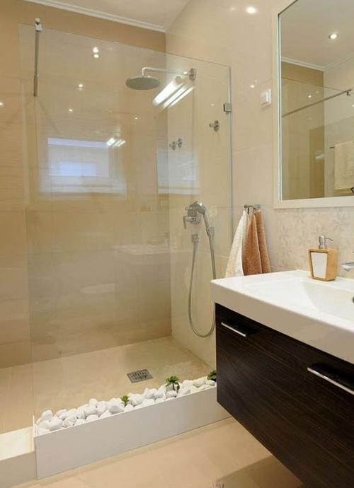 simple walk in shower without door