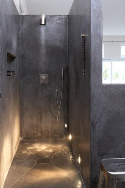 small walk in shower without door