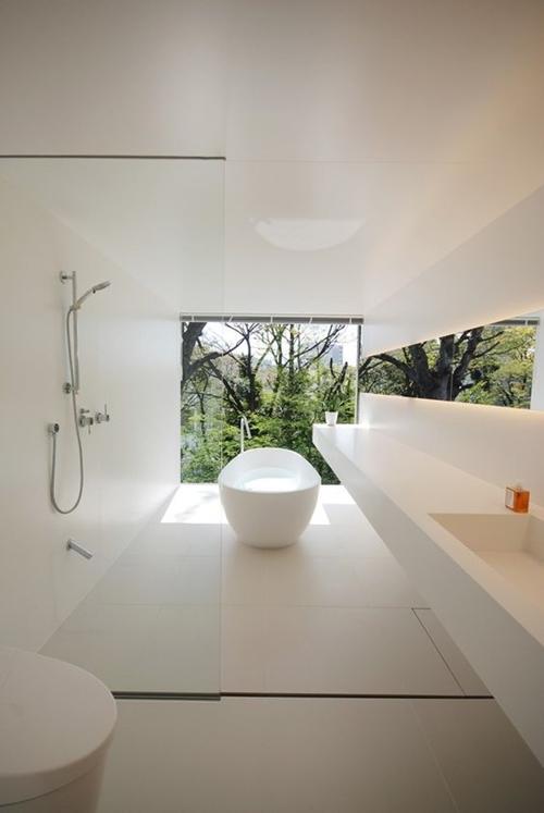 minimalist walk in shower without door