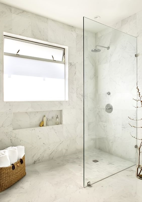 modern walk in shower without door