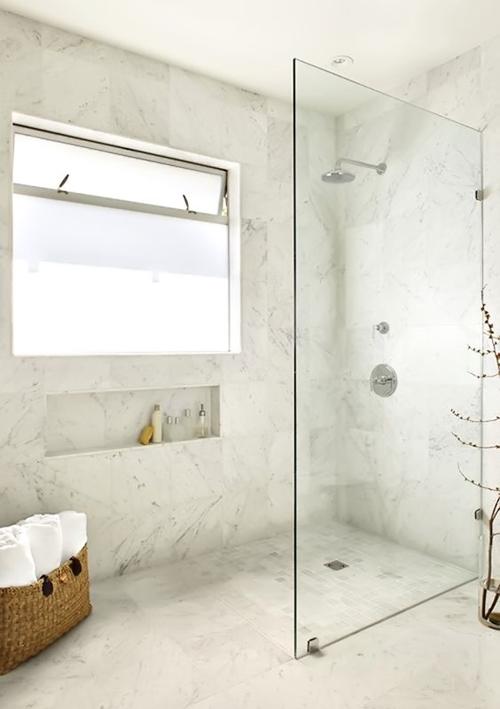 modern walk in shower without door