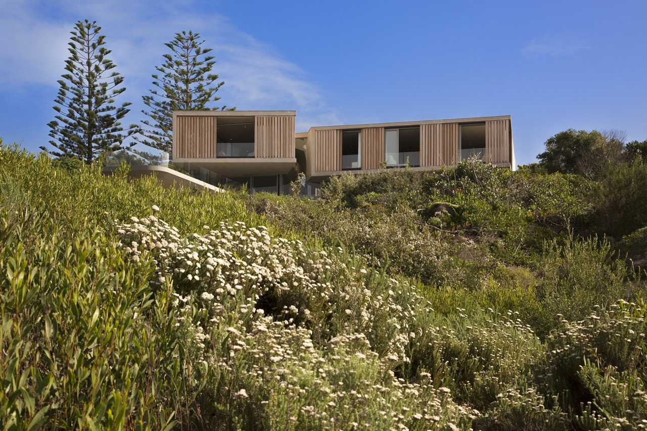 modern home on the hill with wooden facade by SAOTA