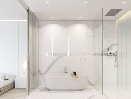 White minimalist bathroom
