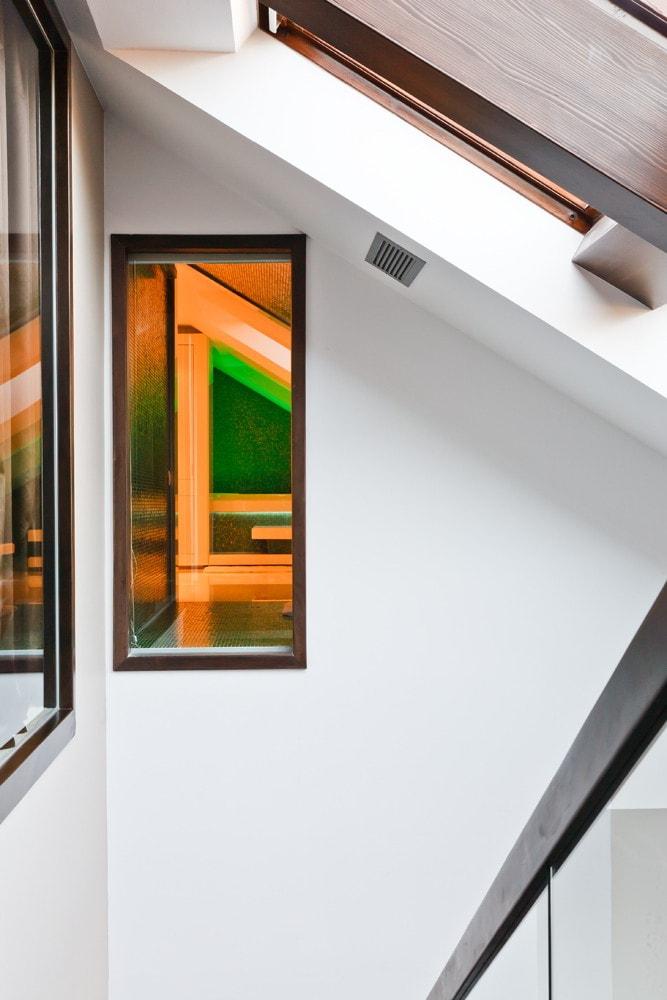 Staircase in modern triplex apartment