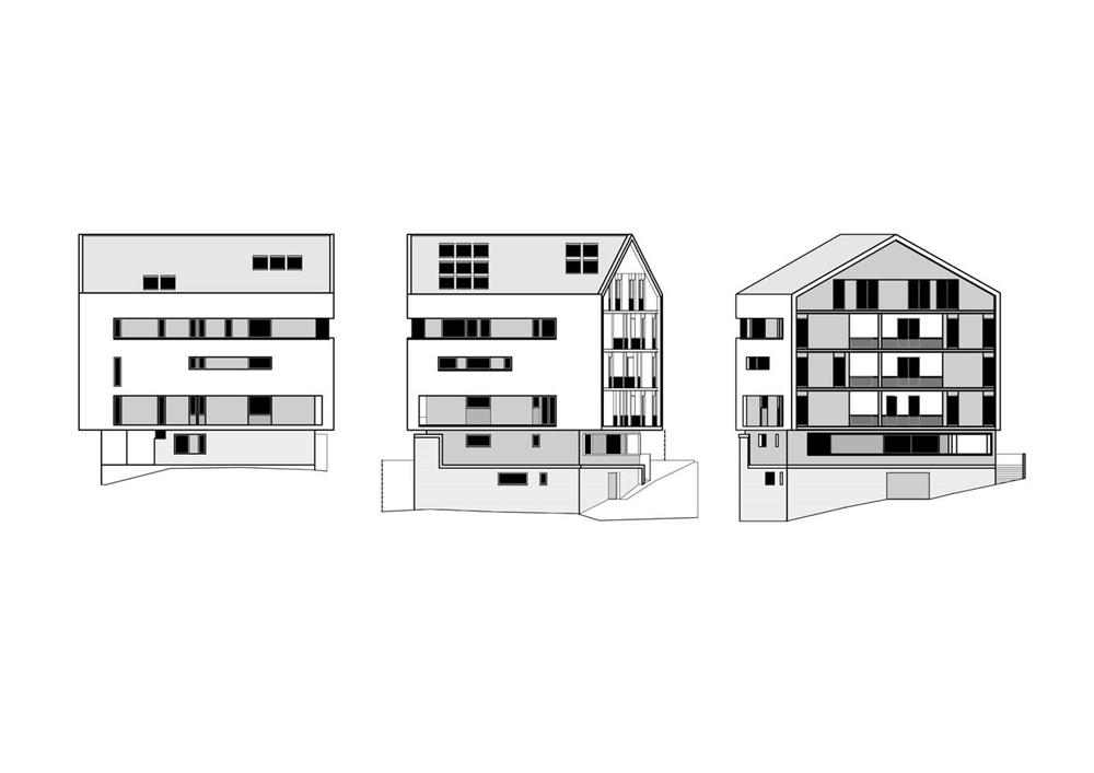Illustration of a modern triplex apartment