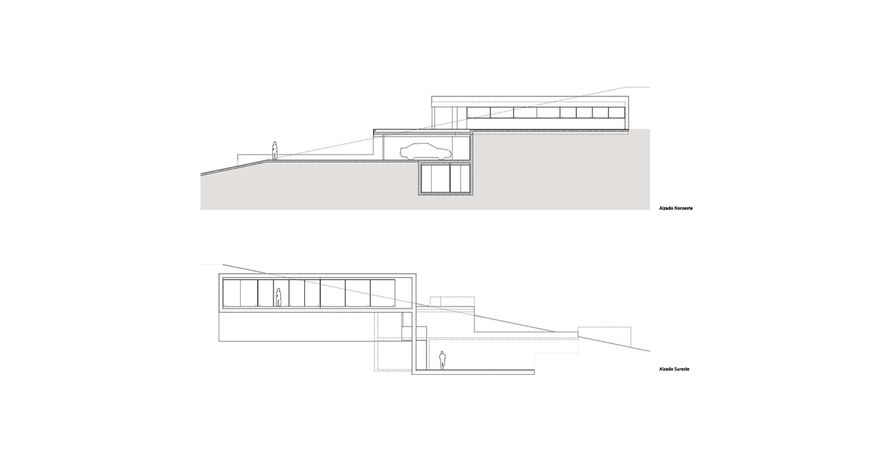 Floor Plan Of Modern Cliff House By Fran Silvestre Architects