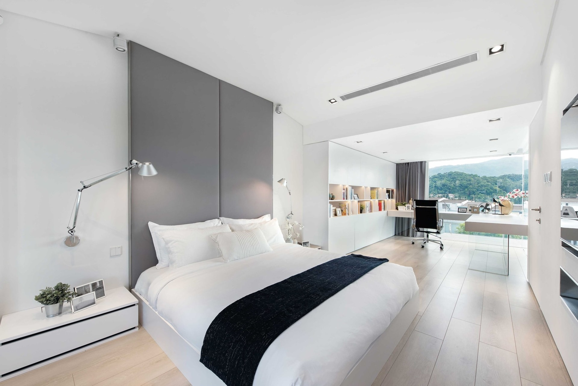 Minimalist Bedroom In Modern Minimalist House By Millimeter Interior Design