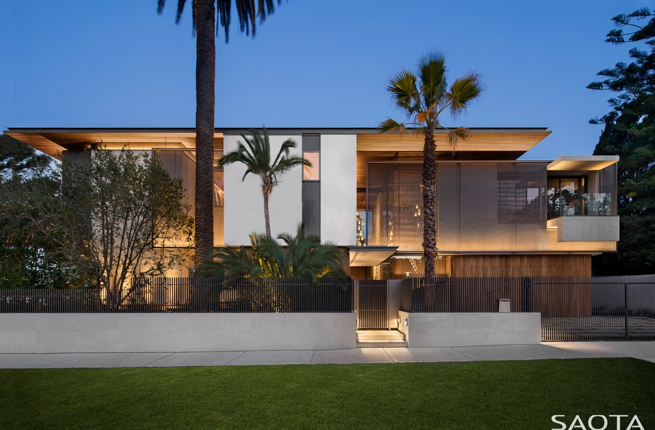 Facade Lights As Part Of Amazing House Design On Double Bay Residence By  SAOTA